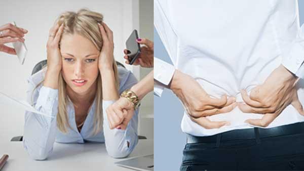 Rückenschmerzen und Streß verursachen eine Menge Blockaden und Schwierigkeiten